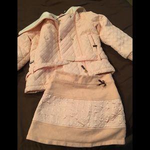 Christian Dior Girls Coat & Skirt